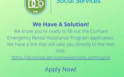 Durham Emergency Rental Assistance Program is open!