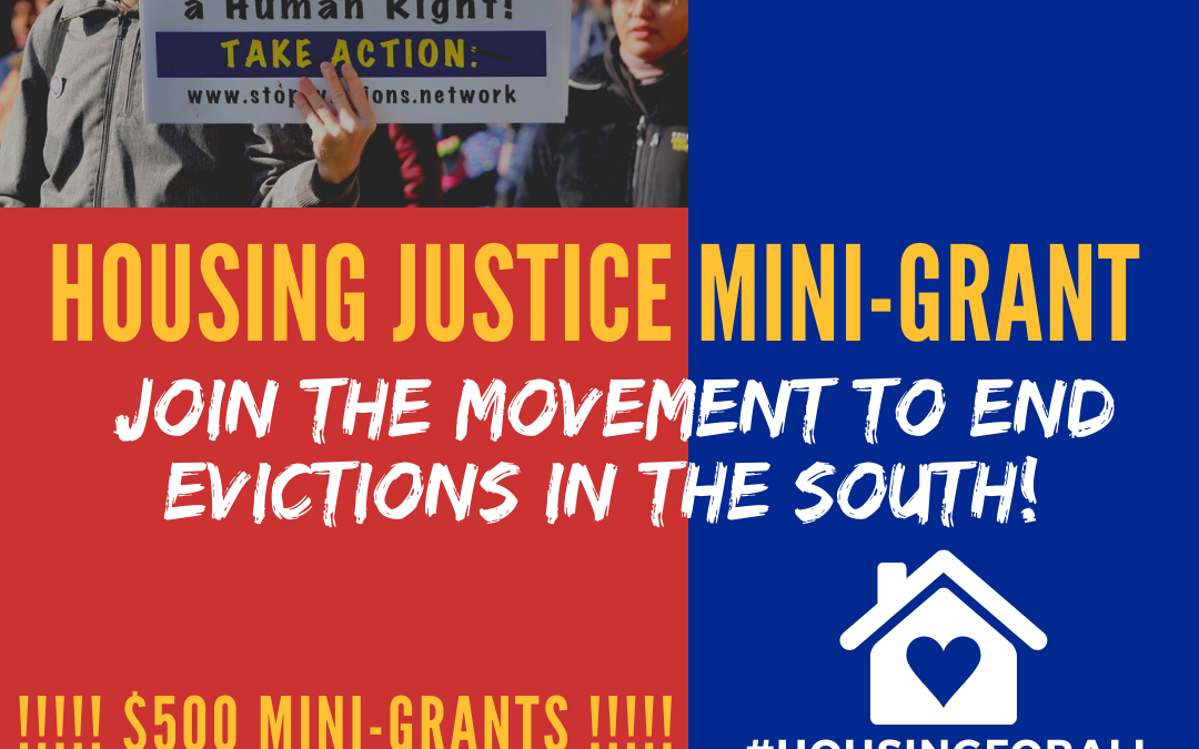 Stop Evictions Mini Grant is open!